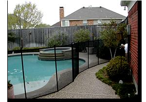 Life Saver removable pool fence